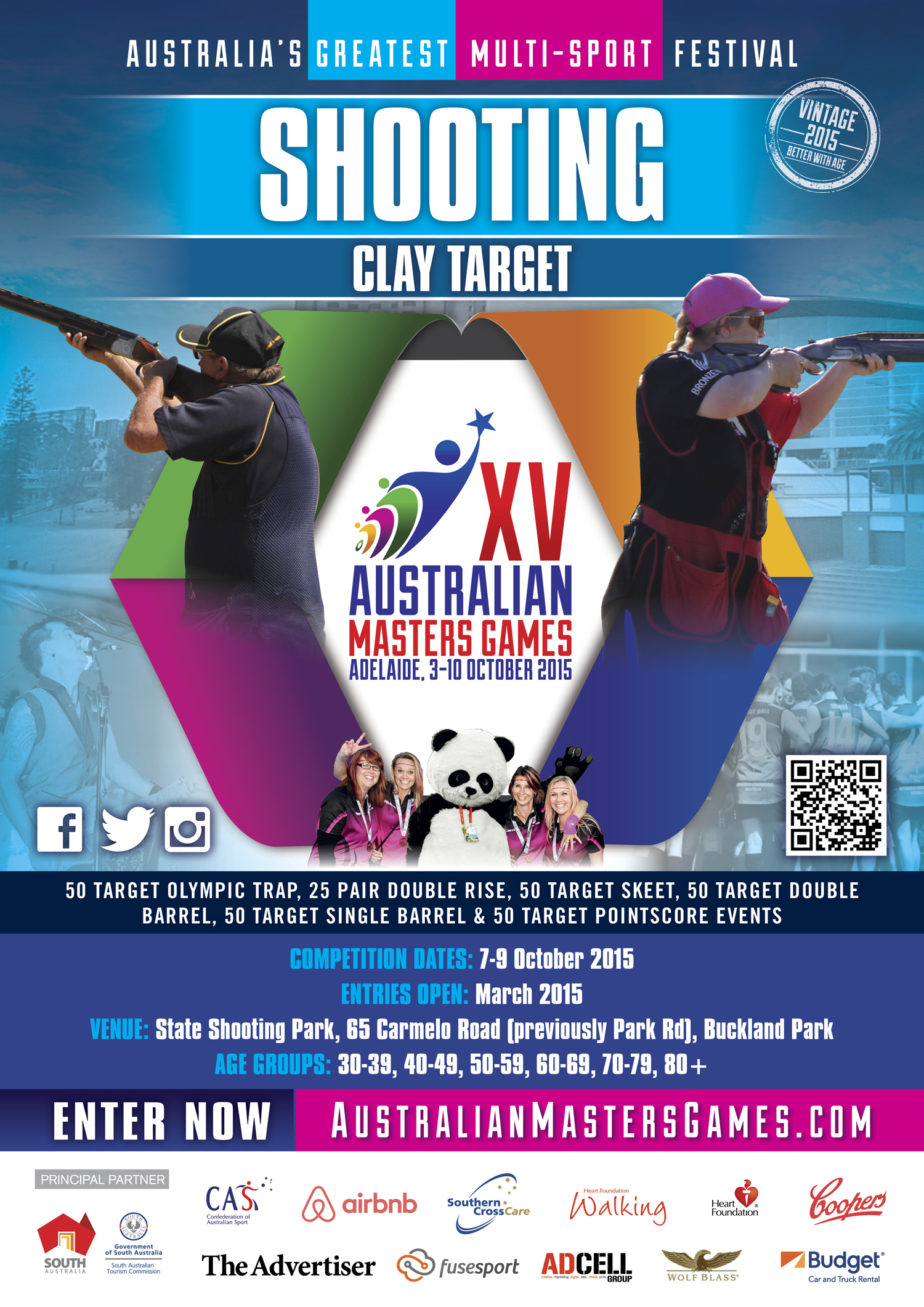 Masters Games Sport Specific Poster for Clay Target Shooting