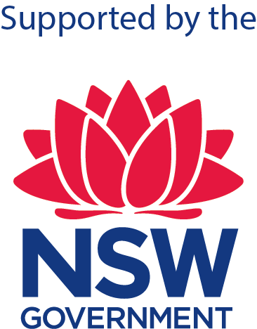 Supported by the NSW Government logo